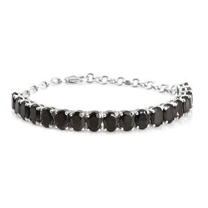 Budget Pay Bonanza Shungite Platinum Over Sterling Silver Bracelet (6-7.5In) TGW 8.95 cts.