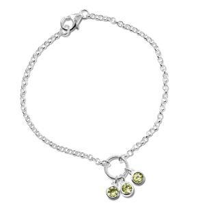 Hebei Peridot Sterling Silver Bracelet (7.25 In) TGW 0.80 cts.