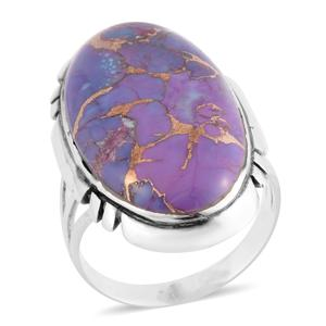 Santa Fe Style Mojave Purple Turquoise Sterling Silver Ring (Size 7.0) TGW 4.50 cts.