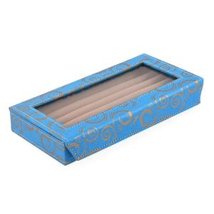 Turquoise Eco Leatherette Ring Box (Approx 50 Rings) (9.5x5x11.5 in)