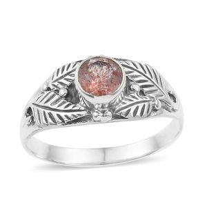Artisan Crafted Cherry Quartz Sterling Silver Ring (Size 7.0) TGW 0.72 cts.