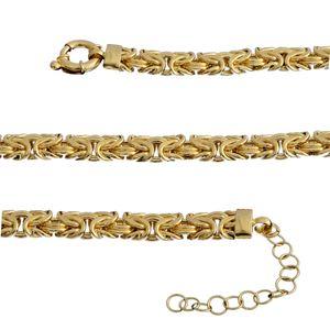 14K YG Over Sterling Silver Byzantine Necklace (20-22 in) (46.5)