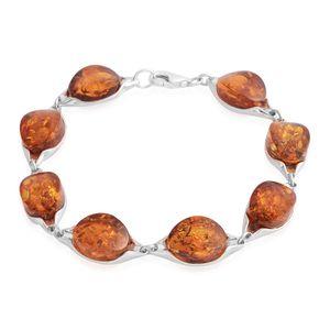 Baltic Amber Sterling Silver Bracelet (7.50 In)