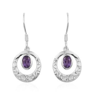 Bolivian Amethyst Sterling Silver Earrings TGW 0.84 cts.