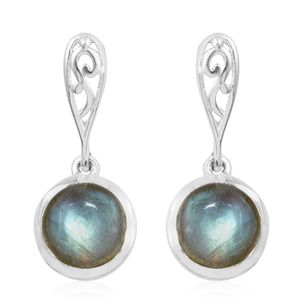 Malagasy Labradorite Sterling Silver Earrings TGW 5.14 cts.
