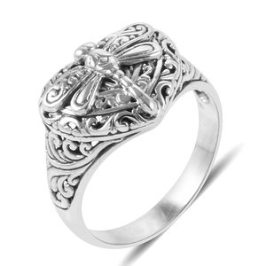 Bali Legacy Collection Sterling Silver Dragonfly Ring (Size 8.0)
