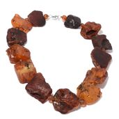 Baltic Amber Sterling Silver Necklace (23 in)