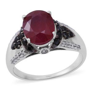 Customer Appreciation Day Niassa Ruby, Multi Gemstone Sterling Silver Ring (Size 7.0) TGW 6.24 cts.