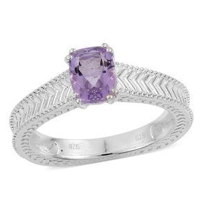 Rose De France Amethyst Sterling Silver Ring (Size 7.0) TGW 1.25 cts.