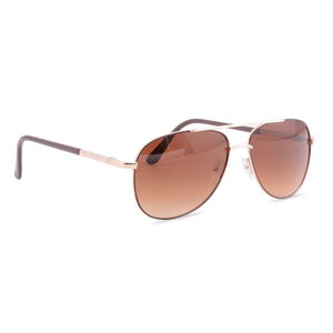Solar X Eyewear - Wire Rimmed Pilot Sunglasses Brown/Gold