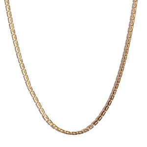 ION Plated YG Stainless Steel Square Rolo Chain Necklace (20 in)