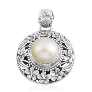 Bali Legacy Collection Freshwater Silver Pearl Sterling Silver Pendant without Chain