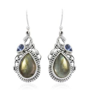 d77cf26f1 Malagasy Labradorite, Tanzanite Drop Earrings in Sterling Silver 13.26 ctw  | Silver-Jewelry | Promotions | online-store | Shop LC