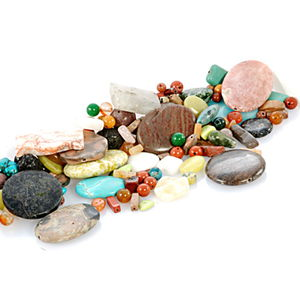 Assorted Loose Beads 1 lbs Bag
