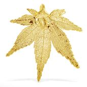 Nature's D'Or Japanese Maple Leaf Dipped in 24K YG Pendant without Chain