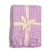 Purple Houndstooth 100% Cotton Throw (50x60 in)