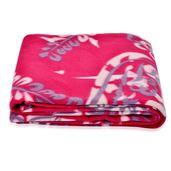 Red Paisley Pattern Microfiber Fleece Blanket (51x66.9 in)